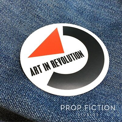 Back to the Future - BTTF Prop 'Art in Revolution' Sticker / Set Dressing Decal