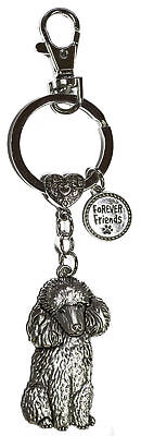 Dog Lovers Forever Friends Zinc Key Chain w/ Clip -Poodle