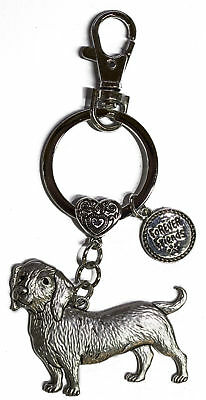 Dog Lovers Forever Friends Zinc Key Chain w/ Clip -Dachshund