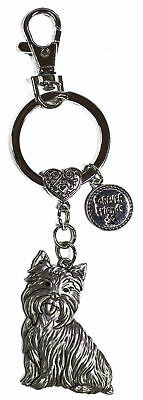 Dog Lovers Forever Friends Zinc Key Chain w/ Clip -Yorkshire Terrier