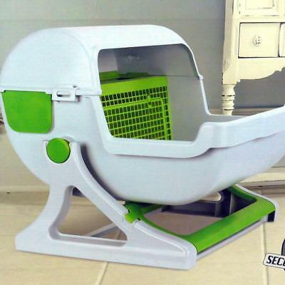 Quick Sift Kitty Cat Litter Box and Sifting System Raised Tray Easy Cleaning