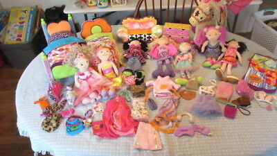 Lot Plush Groovy Girls 7 Dolls Horse Furniture Clothes Gowns Accessories