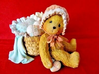 """Cherished Teddies """"Jasmine - You Have Touched My Heart"""" 1991 Teddy w/Pillows"""