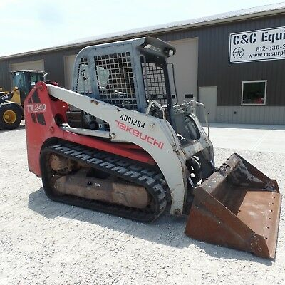 2011 Takeuchi TL240 Tracked skidsteer Good Shape Video!