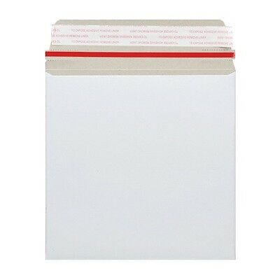 "100 12"" Record Mailer 340mmx340mm Strong All Board White Envelopes"