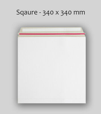 "50 12 "" (340mm X 340mm) White All Board Record Mailer Envelopes BEST QUALITY"