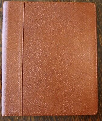 Monarch Caramel Brown ITALIAN LEATHER FRANKLIN COVEY WIREBOUND Planner Cover