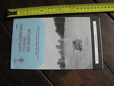 RACV Outback Supplementary Touring Information 1960s