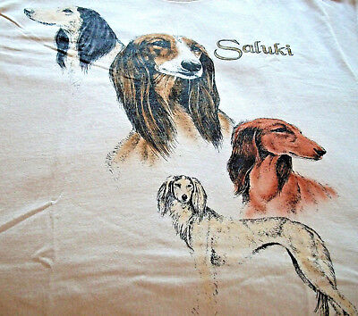 "Saluki T-shirt "" White "" 2XL ( 50 - 52 )"