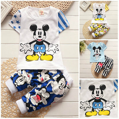infant baby boys clothes cotton summer Tee + short pants kids outfits cartoon