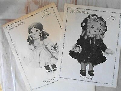 VINTAGE DOLL CLOTHES Craft Sewing Pattern Wendy & Elizabeth Holly ...