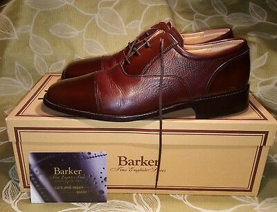 Barker hand made English shoes size 7.5 uk with box cost £215.00