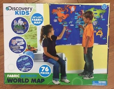 New discovery kids fabric activity world map 55 x 33 76 pcs new discovery kids fabric activity world map 55 x 33 76 pcs gumiabroncs Images