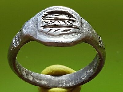 Byzantine Silver Ring !! Letter D Engraved !!
