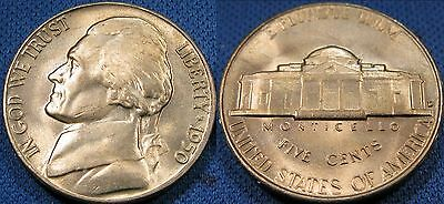 1950 D to 1959 D Jefferson Nickel Coin Set Of 10 BU Roll Nickels