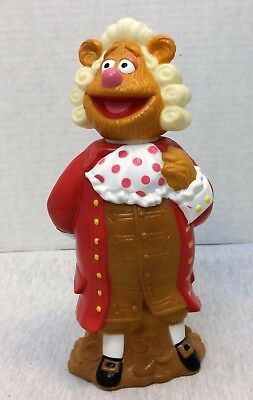 Vintage Muppet Treasure Island Fozzie Bear Empty Bubble Bath Bottle Collectible