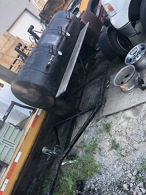 Commercial Horizon Smoker Bbq Grill Pull Behind With Trailer Hitch And Wheels