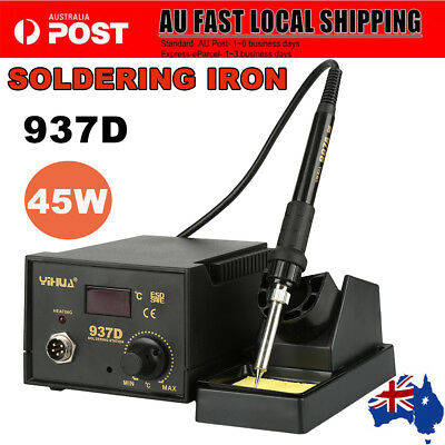 937D Electric Soldering Iron ESD Safe Solder Station 45 W Lead Welding Set AU