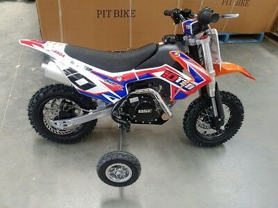 Kids 50cc dirt bike 4 stroke fully automatic w/training wheels low seat height