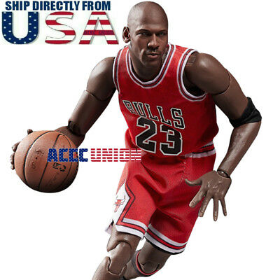 c9f857358d70d7 1 6 Scale Michael Jordan Red Chicago Bulls Jersey 23 For Enterbay Hot Toys  USA