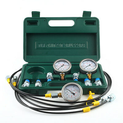XZTK-6 Excavator Hydraulic Pressure Test Kit Guage Coupling 9000 PSI AU Stock