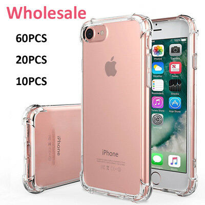 Lot TPU Case Shockproof Full Protector Cover For Apple iPhone 6S 6 7 8 Plus X