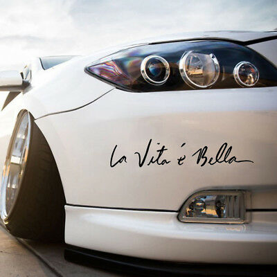 "1x DIY Car Vinyl Sticker Life is Beautiful ""La Vita E Bella"" Styling Quote Decal"