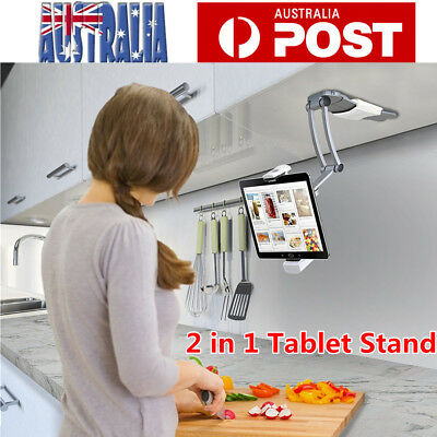Tablet Stand Holder 2 in 1 Desktop Wall Mount Stand for  iPad Air iPhone Samsung