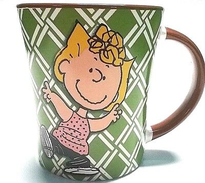 15 oz Peanuts Gang by Schulz Sally Ceramic Coffee Mug Cup Green/Brown