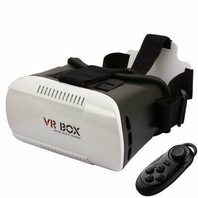 VR BOX Virtual Reality Goggles 3D Glasses Headset Remote Bluetooth Wireless