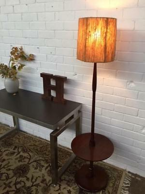 E24027 Vintage Retro Teak Standard Lamp with Table