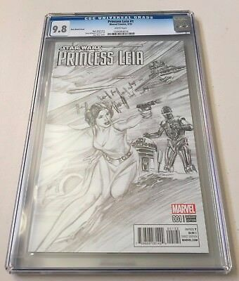Marvel Comics STAR WARS PRINCESS LEIA #1 Alex Ross Sketch Variant CGC Graded 9.8