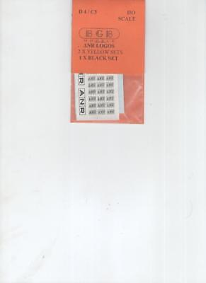 ANR in boxes RED decals. Single pack For 800 and wagons MARCH MODELLING MADNESS