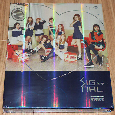 TWICE SIGNAL 4th Mini Album C Ver. K-POP CD + PHOTOCARD SET + FOLDED POSTER NEW