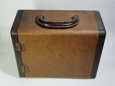 VINTAGE BAJA BARNETT & JAFFE 3 DRAWER SLIDE CASE Tweed