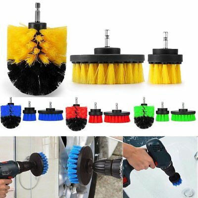 3PCs/set Grout Power Scrubber Cleaning Drill Brush Tub Cleaner Combo Tool Kit