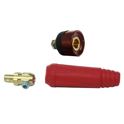 Cable Plug Welding Male Connector DKJ10-25 DINSE Style ZX7-200A Amp With Socket