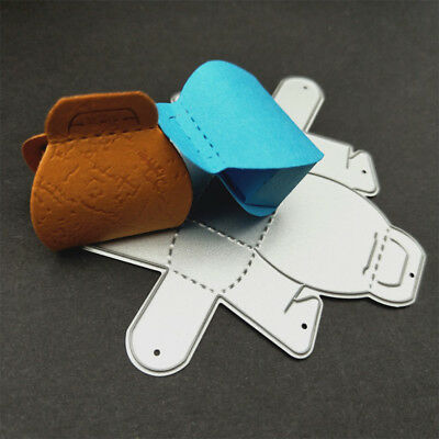 1pc gift box Stencil Metal Cutting Dies For DIY Scrapbooking Paper Card RH