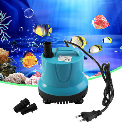 2 Types 2000L/H Pompe à Eau Submersible Fish Tank Aquarium Etang Poissons EU