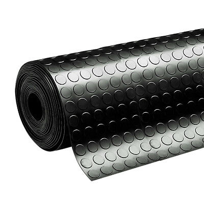 STUDDED Garage Rubber Flooring ANTI-SLIP Sheeting Matting Roll 10M x 3MM THICK