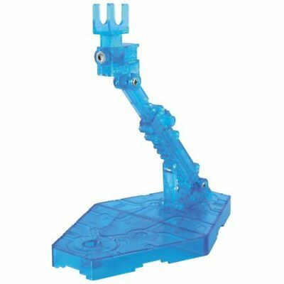 Bandai Gundam ACTION BASE 2 CLEAR BLUE f/1/144Scale Display Stand Japan new .
