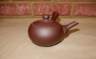 Lovely signed vintage small Chinese Yixing Zisha Purple Clay Teapot w/ handle