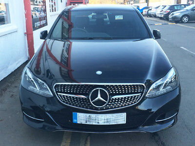 W212 E Class Sport AMG E63 Style grill grille Black 2013 Models ONWARDS