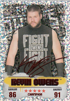 Topps Slam Attax Takeover Kevin Owens Champion No. 26