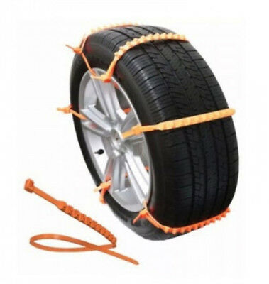 x10pc Universal Easy Install Emergency Nylon Zip Strap Snow Traction Tire Chains