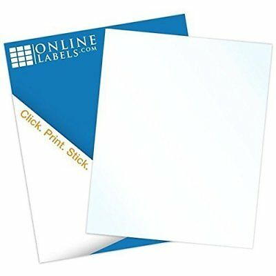 "Online Labels - 8.5"" x 11"" Waterproof Clear Gloss Sticker Paper - No Back Slit"