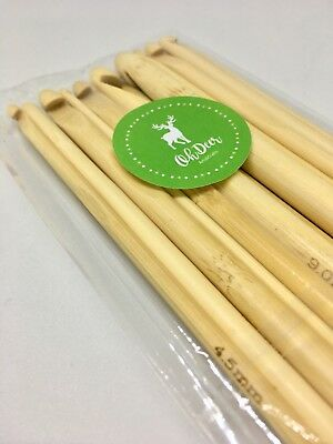 XMAS PROMO UNTIL 21ST ! Set of 12Pc Bamboo Crochet Hooks Knitting Needles 3-10mm