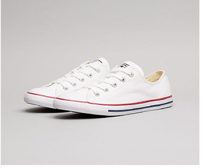 Converse All Star Ct Dainty Ox - White - 537204C - Womens Trainers - Brand New