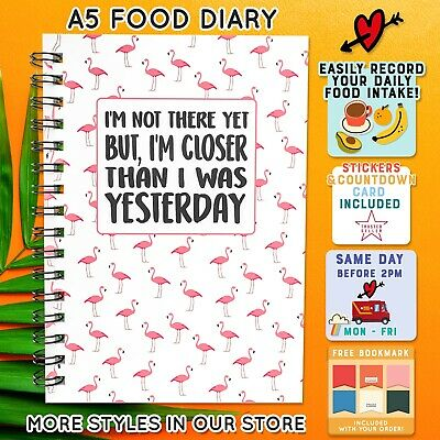 Food Diary Slimming World diet compatible weight loss tracker 🏝FLAMINGO 🏝 C 55