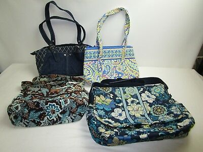 Vera Bradley Mixed Lot of 4 Purses/Bags / Various Styles & Designs